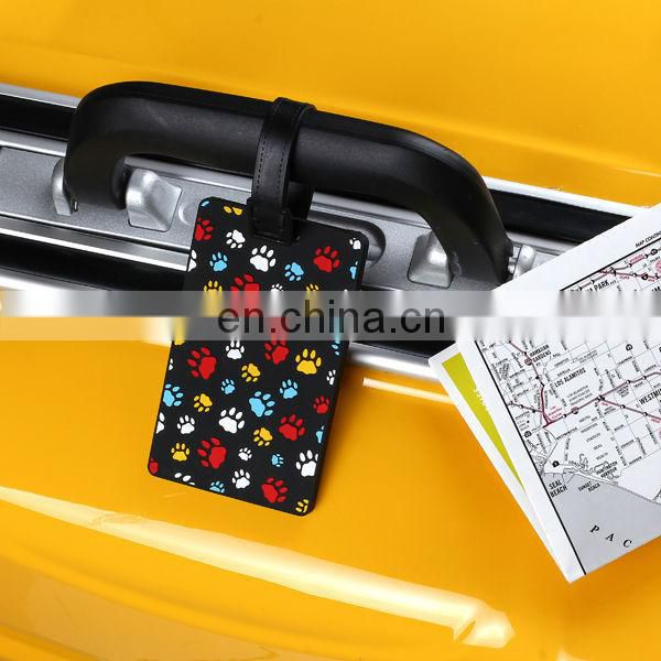 fashion 3d pvc luggage tag