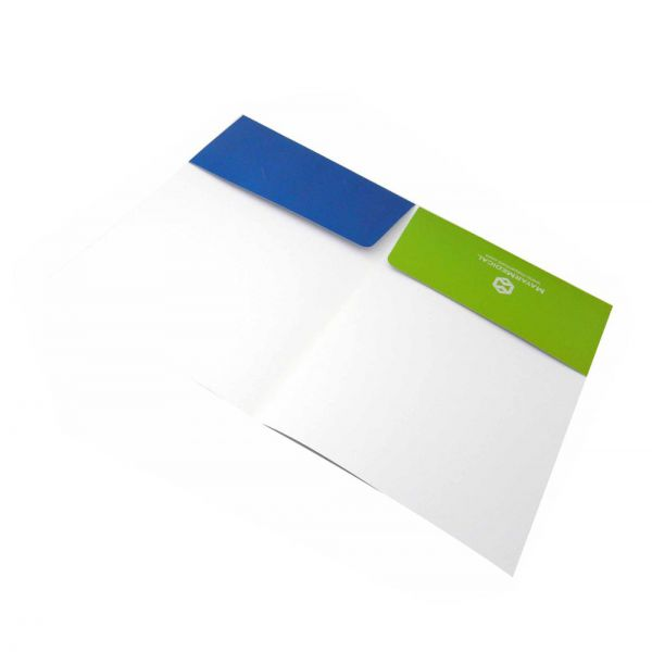 Custom well designed full color presentation folder printing