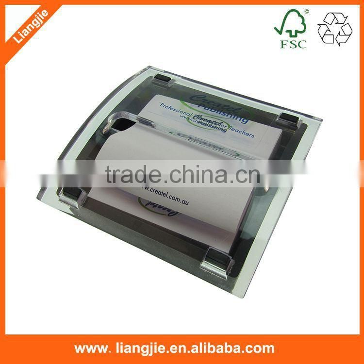 Promotional blank paper memo pads in card box/case