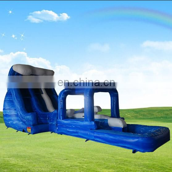 hot products 2017 Custom design cheap banzai inflatable water slide with pool