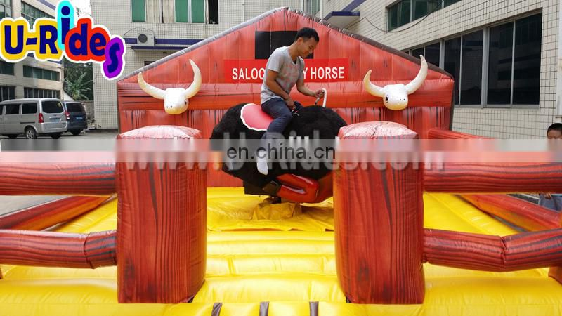 Big body inflatable mechanical rodeo bull