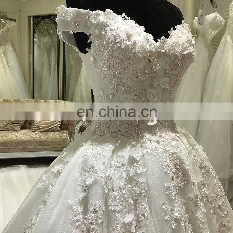 2017 real sample china custom made zhongshan wedding dress pink color