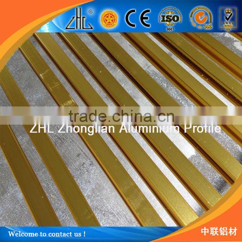 Hot! sand blasted gold aluminum cabinet best factory aluminum alloy price 6063-t5 0.8 mm aluminum extruded profile