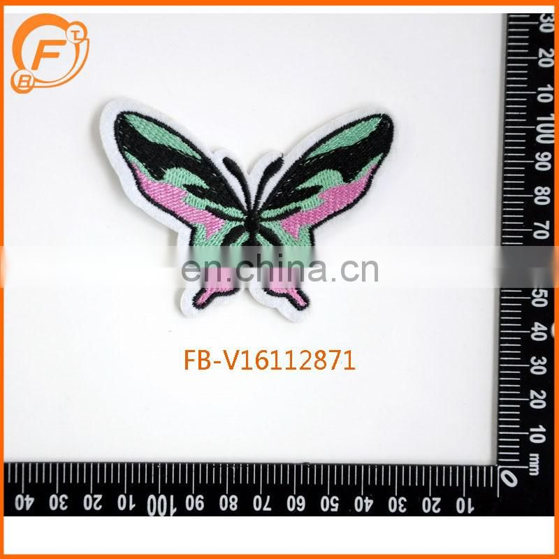 Embroidery Butterfly Design Trimmings And Embroidery Patchs For Clothing