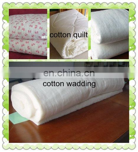 100% natural cotton wadding filler in garment bedding