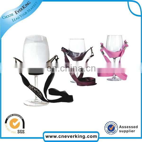 factory direct sale hand free wine glass holder lanyard