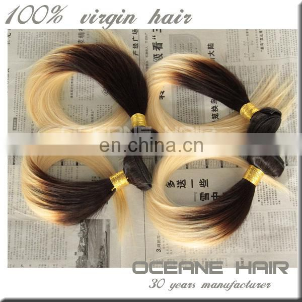 Alibaba Express Hot Selling Top 7A+ Grade High Quality Brazilian vrigin hair ombre bundles hair weaves