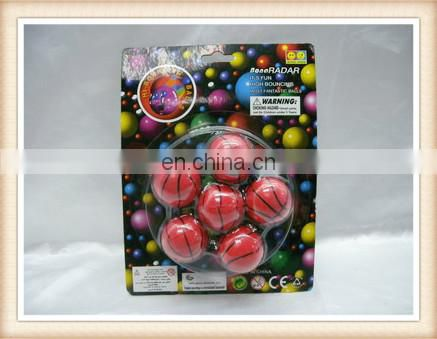 5.5cm plastic flashing bounce ball toy