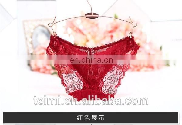 Women's Lace Decorated Briefs Panties Sex Underwear