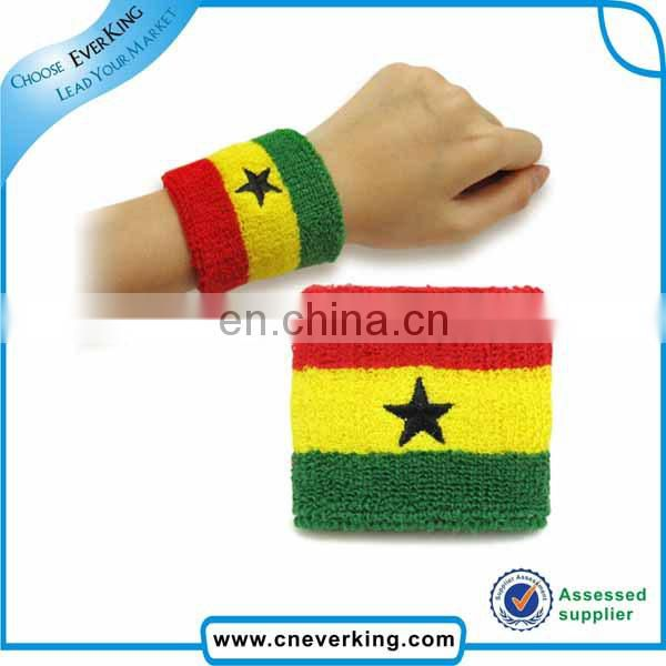 Cotton material custom terry wristbands