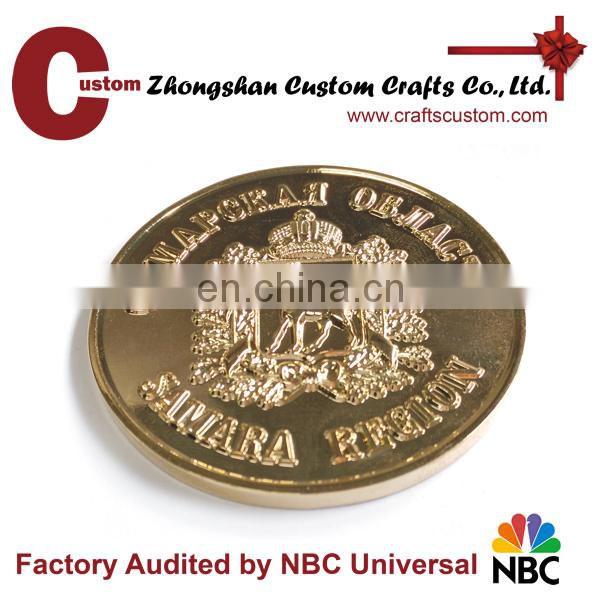 New product custom made gold plated coin for souvenir