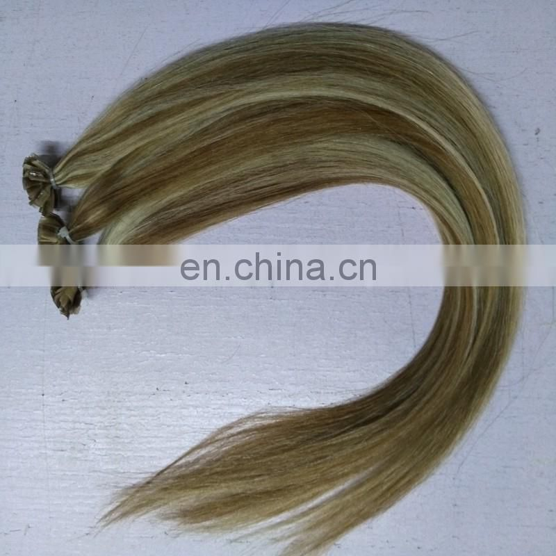 Piano color U tip hair extensions mixed color 10/613 U tip hair wholesale price brazilian natural hair extensions