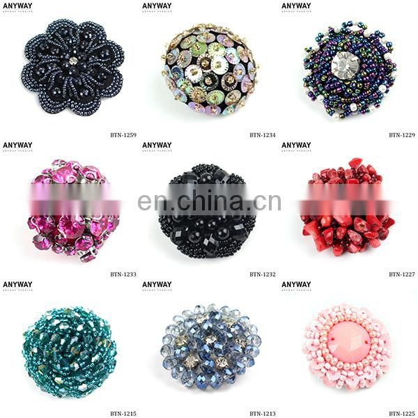 Jean Wholesale Fashion Beaded Fancy Buttons BTN-1328