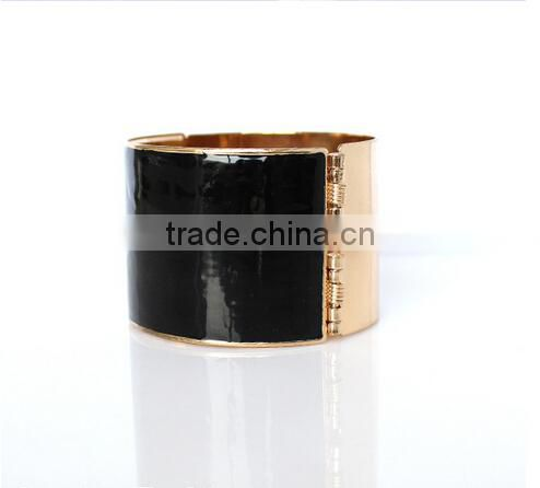 Vintage Rose Gold black bracelet crossfit pulseiras femininas open bracelets bangles for women wholesale bijoux indian jewelry