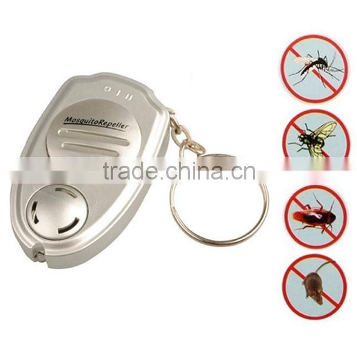Hot Portable Mosquito Repeller Electronic Ultrasonic Keychain Mosquito Repellent