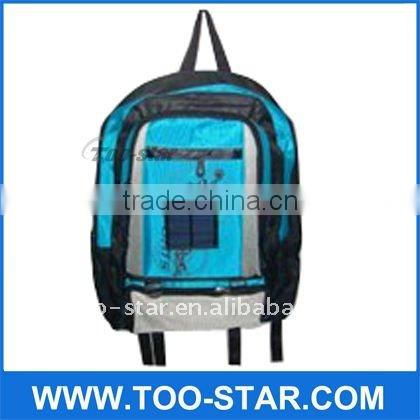 Leisure style 1000MAH high capability solar backpack pefect for traveling,sports,leisure