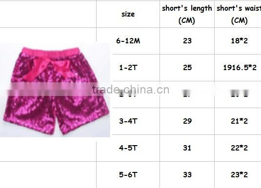 Cotton Pom Pom Pink Baby Sequin Shorts
