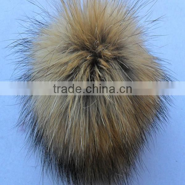 Raccoon fur pom poms For Hat / Garment / Key Chain/Shoes