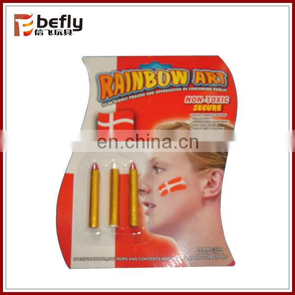 Spain football fans face paint stick