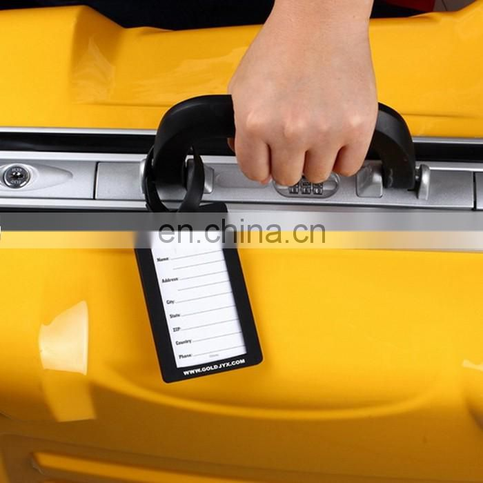 New Product Custom-Made Travel Luggage Tag Eco-Friendly Luggage Tag Silicon