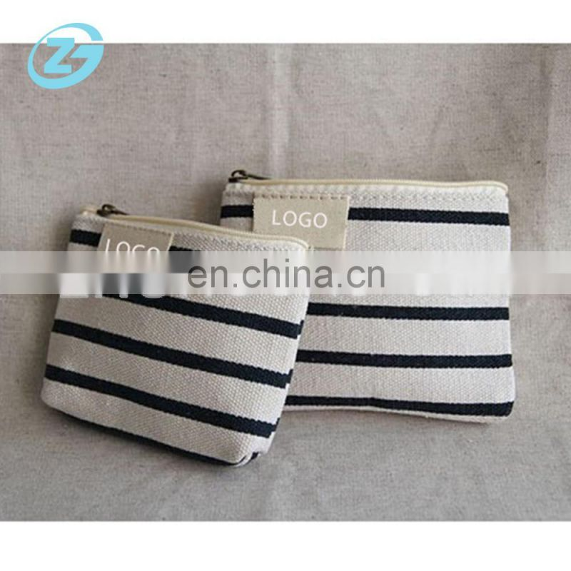 Concise Style Ziplock Cotton Canvas Coin Purse/Gift Bag/Pencil Cases Cuestom Mini Cosmetic Bag