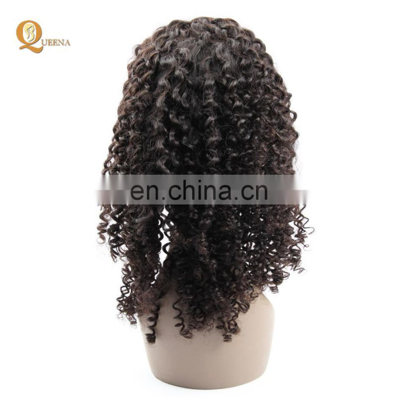 Alibaba wholesale top quality wig 100% brazilian human hair deep curly full lace wig