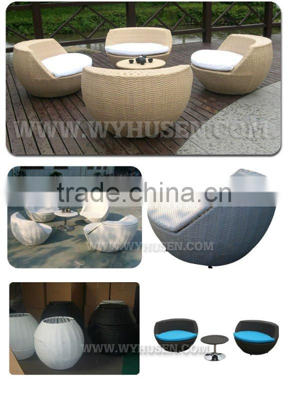 2011 new rattan outdoor tea(coffee) table with chair WYHS-T046