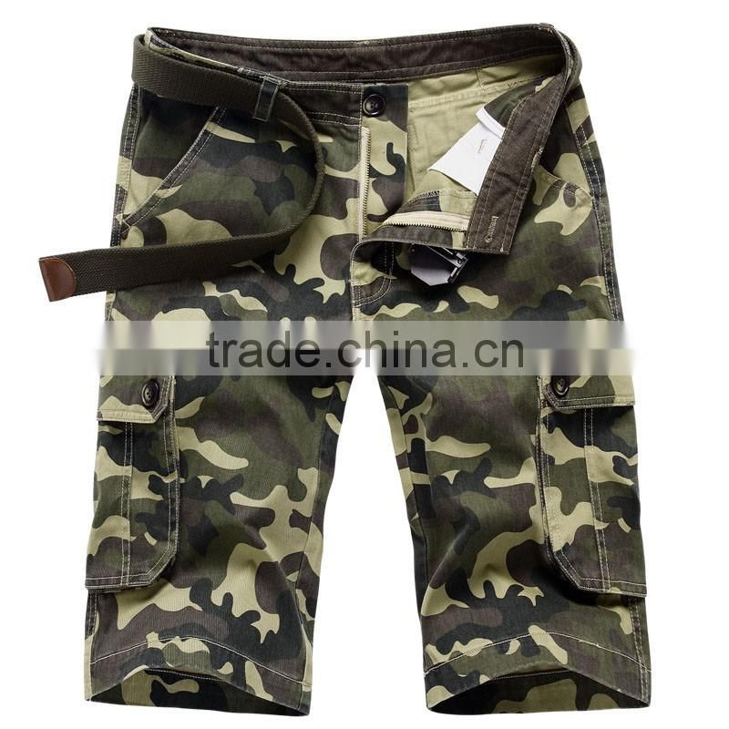 Mens Military Cargo Shorts 2016 Brand New Army Camouflage Shorts Men Cotton Loose Work Casual Short Pants Plus Size No Belt