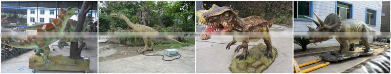 Dinosaur theme park walking and riding animatronic dinosaur