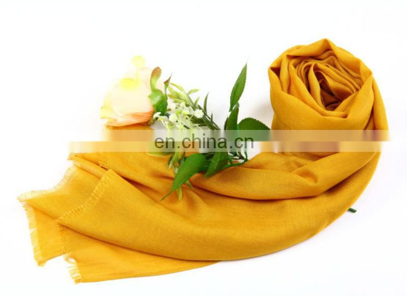 high quality solid color viscose scarf