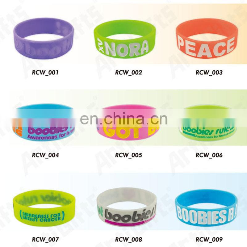 From china factory make rubber bands bracelet