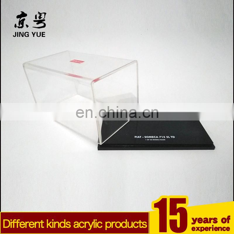 Clear cover and black base pmma plexiglass toy display case box acrylic toy display box