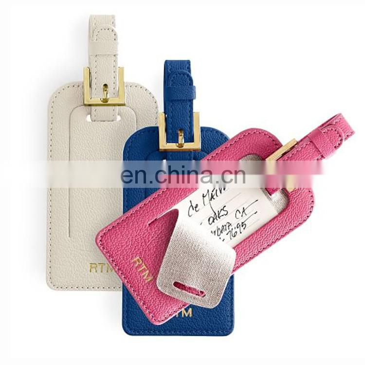 Factory Manufacture Travel Accessories Square shape Metal Luggage tag