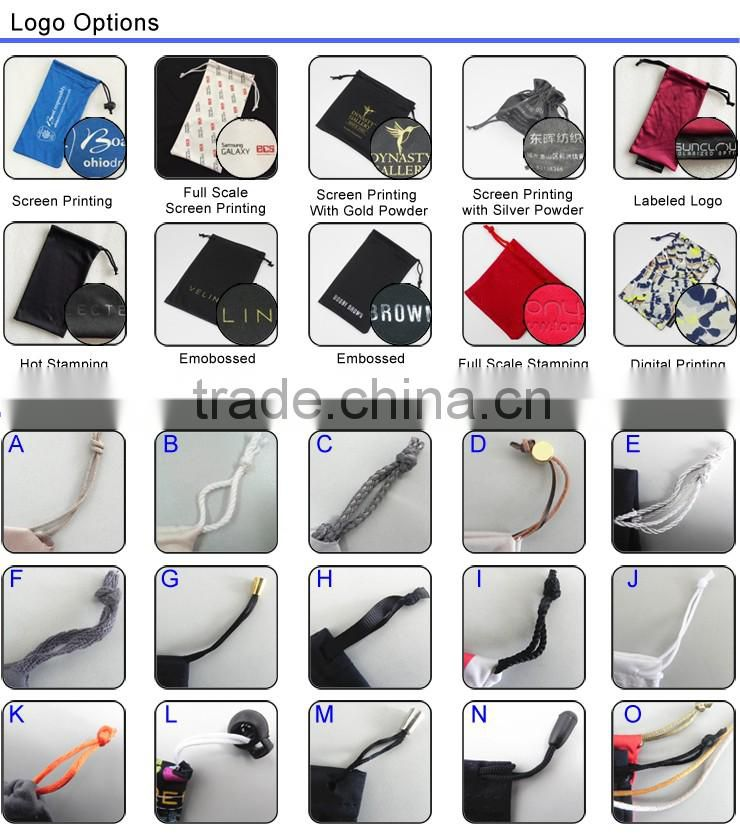 custom microfiber suede mobile bags for jewelry