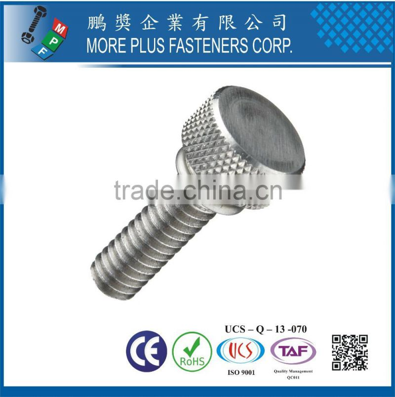 ANSI Stainless Steel Knurled Thumb Screw Plain