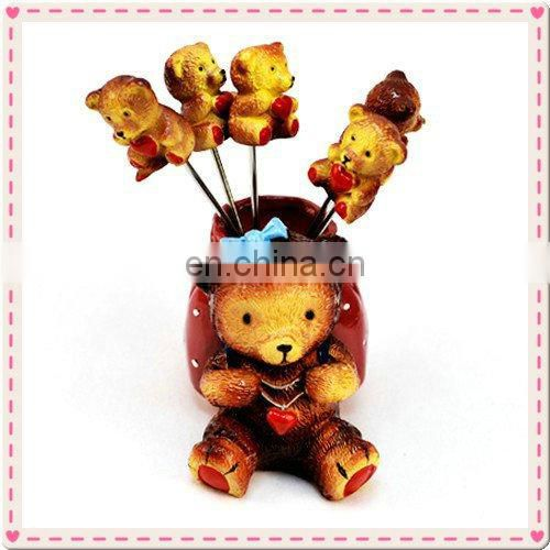 Wedding Gift Bear Design Fruit Fork