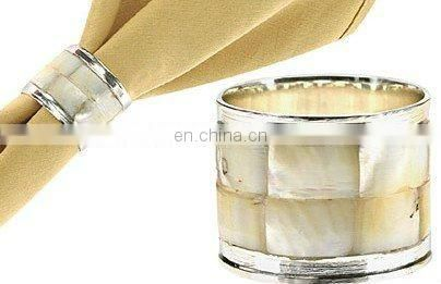 Mother of Pearl Silver Napkin Ring