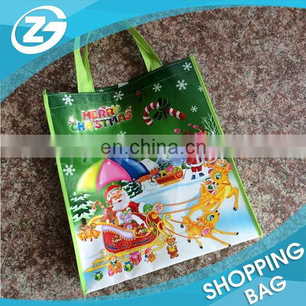 Newest Full Color PP Lamination Printed Stanta Bag Manufacturer Durable Carrying Tote Cheap Promotional Non Woven Gift Bag
