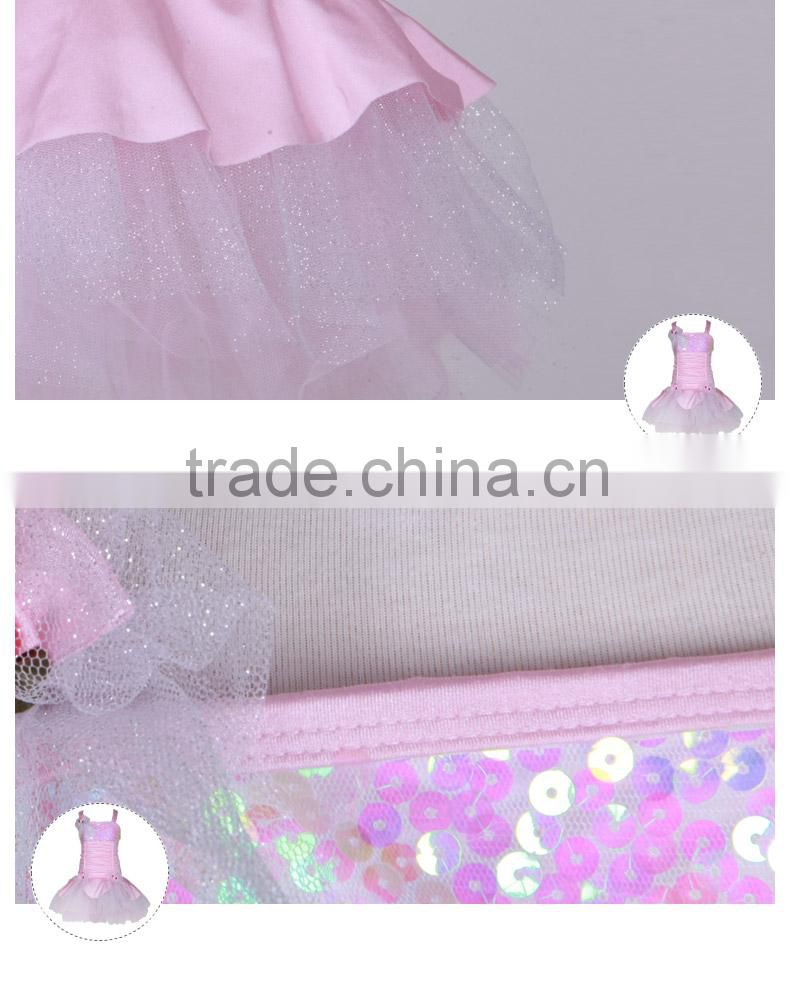 Dttrol kids party dresses sequined camisole net material for dresses butterfly dresses D032004