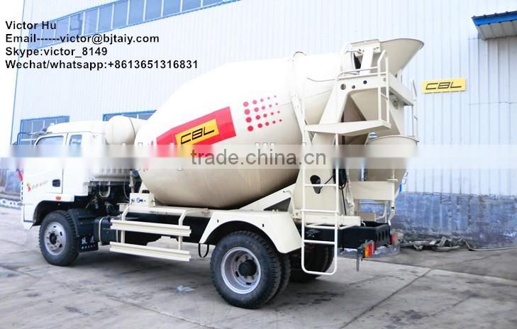 small self loading feeding concrete mixer lorry for sale