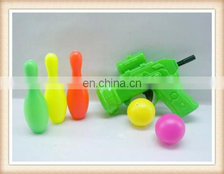 plastic bowling toy ping pong ball shooting game toys