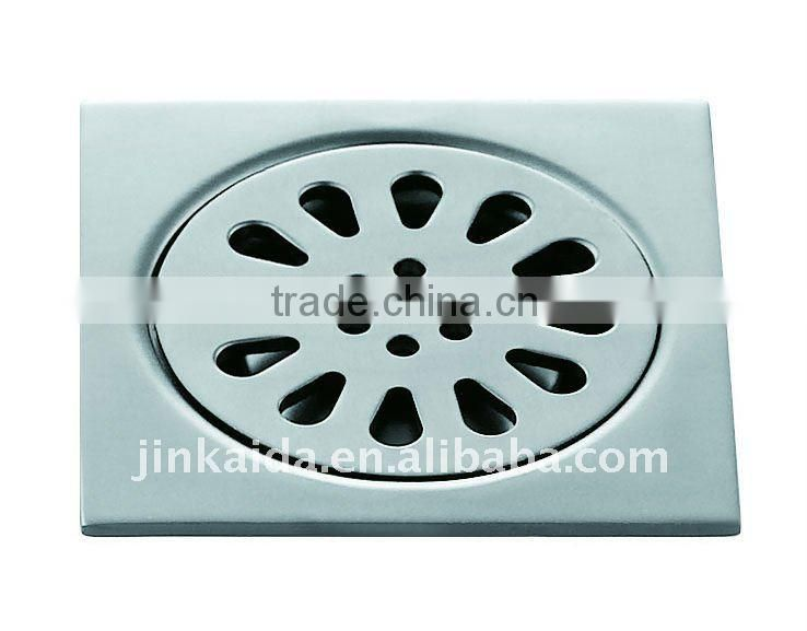 Aluminium square floor drain,single use,L2042, aluminium matte color