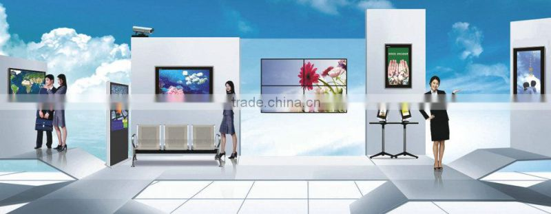 55 Inch lcd indoor advertising screens 1080p screen smart tv media screen supermarket floor display