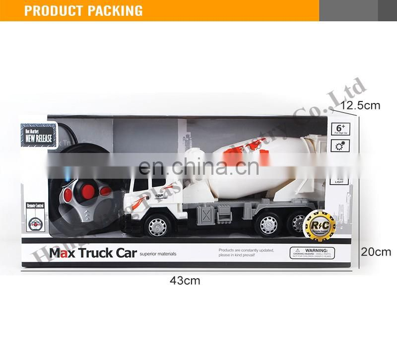 Interesting Kids Remote Control Car Truck with light concrete mixer truck toy