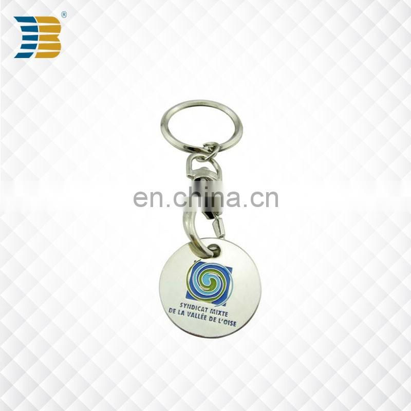 Top sell custom metal souvenir supermarket shopping trolley coin locks