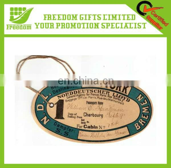 Top Quality Custom Made Paper Luggage Tag