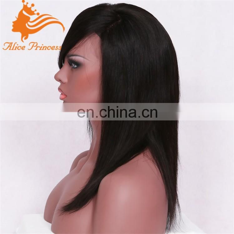 100% brazilian human hair wholesale hair weave silk straight silky straight wigs with full