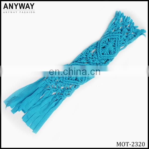 sky blue braided appliques for headbands for childrens clothing