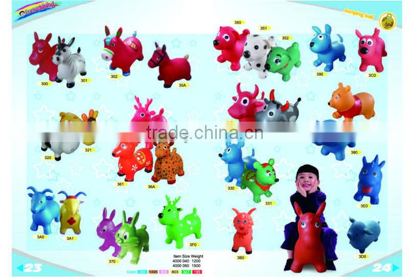 All kinds of inflatable bear with pump(inflatable jumping animal,animal toys,jumping animal)