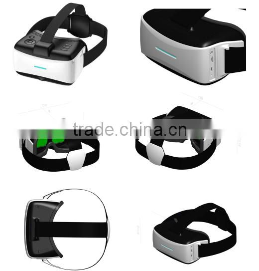 3d glasses for blue film video open sex video 3d VR BOX All-in-One cardboard Virtual Reality